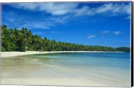 White sand beach and water at the Nanuya Lailai island, the blue lagoon, Yasawa, Fiji, South Pacific Fine-Art Print