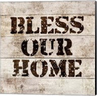 Bless Our Home In Wood Fine-Art Print