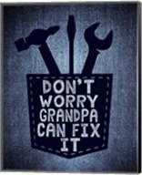 Don't Worry In Blue Fine-Art Print