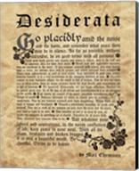 Old English Desiderata Fine-Art Print