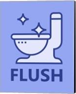 Boy's Bathroom Task-Flush Fine-Art Print