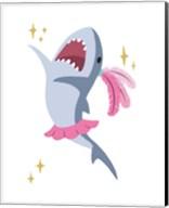 Wash Brush Floss Flush Shark Pink Part III Fine-Art Print