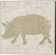 Burlap Farm Animals 3 Fine-Art Print