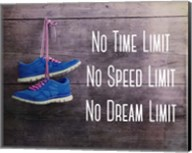 No Time Limit No Speed Limit No Dream Limit Blue Shoes Fine-Art Print