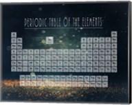 Periodic Table Gold Dust - Blue Fine-Art Print
