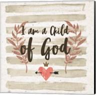 I am a Child of God Gray Stripes Fine-Art Print