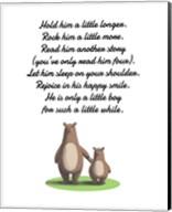 Hold Him A Little Longer Bear And Cub White Fine-Art Print