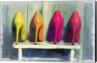 Vintage Fashion Colorful Heels Fine-Art Print