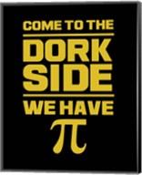 Come To The Dork Side Black Fine-Art Print