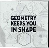 Geometry Keeps You In Shape Light Pattern Fine-Art Print