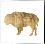 Brushed Gold Animals I Fine-Art Print