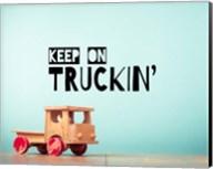 Keep On Truckin' Blue Fine-Art Print