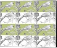 Bird And Thistle Stripe Pattern Fine-Art Print