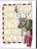 Reindeer With Scarf Fine-Art Print