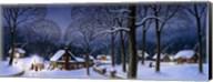 Winter Scene Carollers Fine-Art Print