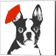 Red Beret Dog Fine-Art Print