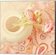 Teapot with Peonies Fine-Art Print