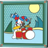 Coalman The Snowman Drums 1 Fine-Art Print