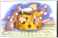 Christmouse Crackers Fine-Art Print