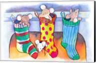 Christmouse Stockings Fine-Art Print