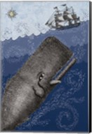 Whale and Ship 3F Fine-Art Print