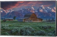 Grand Teton Mormon Barn At Sunrise Fine-Art Print