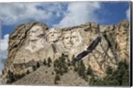 Mount Rushmore And Eagle Fine-Art Print