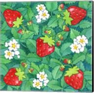 Strawberries + Leaves Fine-Art Print