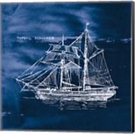 Sailing Ships V Indigo Fine-Art Print