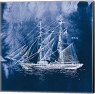 Sailing Ships IV Indigo Fine-Art Print