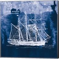 Sailing Ships II Indigo Fine-Art Print
