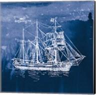 Sailing Ships III Indigo Fine-Art Print