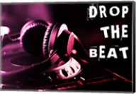 Drop The Beat  - Magenta and Red Fine-Art Print