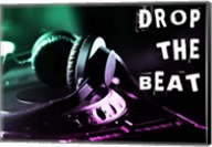 Drop The Beat - Green and Pink Fine-Art Print