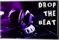 Drop The Beat - Purple and Blue Fine-Art Print