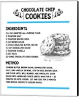 Chocolate Chip Cookies Recipe White Background Fine-Art Print