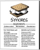 S'mores Recipe White Background Fine-Art Print