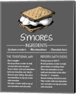 S'mores Recipe Gray Background Fine-Art Print