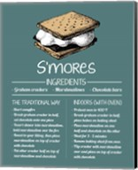 S'mores Recipe Blue Background Fine-Art Print