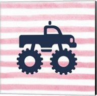 Monster Truck Graphic Pink Part I Fine-Art Print