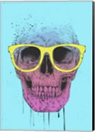 Pop Art Skull With Glasses Fine-Art Print