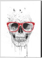 Skull With Red Glasses Fine-Art Print