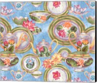 China Cabinet Scroll Blotch Blue Fine-Art Print