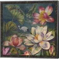 Lotus and Crane Fine-Art Print