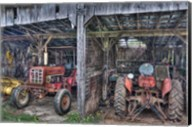 Two Red  Tractors Fine-Art Print