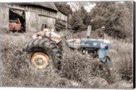 Blue Tractor BW Fine-Art Print