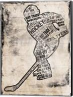Hockey Type Black Fine-Art Print