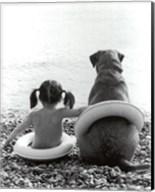 Girl with Dog Fine-Art Print