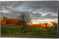 The Neighbor's Barn Sunset Fine-Art Print