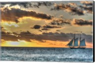 Key West Clipper Sunset I Fine-Art Print